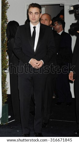 LOS ANGELES - JAN 13 - Robert Pattinson arrives at the 2013 Weinstein Company Golden Globes After Party  on January 13, 2013 in Beverly Hills, CA              - stock photo