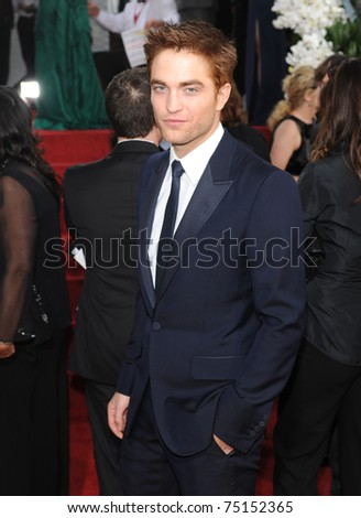 LOS ANGELES - JAN 16:  Robert Pattinson arrives to the 68th Annual Golden Globe Awards  on January 16, 2011 in Beverly Hills, CA