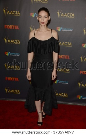 LOS ANGELES - JAN 29:  Rooney Mara at the 2016 AACTA International Awards at the PETA's Bob Barker Building on January 29, 2016 in Los Angeles, CA - stock photo