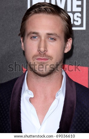 LOS ANGELES - JAN 14: Ryan Gosling arrives at the 16th Annual Critics' Choice Movie Awards at Hollywood Palladium on January 14, 2011 in Los Angeles, CA - stock photo