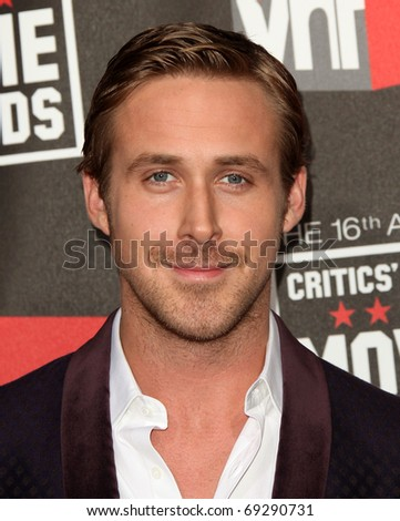 "LOS ANGELES - JAN 14:  Ryan Gosling arrives at the 16th Annual ""Critics"" Choice Movie Awards  on January 14, 2011 in Los Angeles, CA - stock photo"