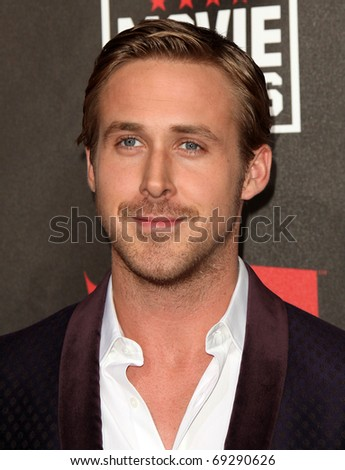 """LOS ANGELES - JAN 14: Ryan Gosling arrives to 16th Annual """"Critics"""" Choice Movie Awards on January 14, 2011 in Los Angeles, CA - stock photo"""