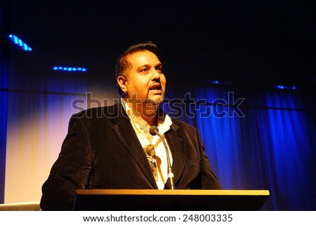 LOS ANGELES - JAN 28: Salim Amin at the 30th Anniversary of 'We Are The World' at The GRAMMY Museum on January 28, 2015 in Los Angeles, California - stock photo