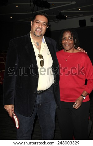 LOS ANGELES - JAN 28: Salim Amin, Marcia Thomas at the 30th Anniversary of 'We Are The World' at The GRAMMY Museum on January 28, 2015 in Los Angeles, California - stock photo