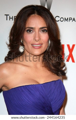 LOS ANGELES - JAN 11:  Salma Hayek at the The Weinstein Company / Netflix Golden Globes After Party at a Beverly Hilton Adjacent on January 11, 2015 in Beverly Hills, CA - stock photo