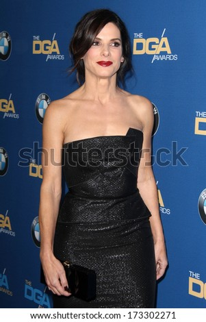 LOS ANGELES - JAN 25:  Sandra Bullock at the 66th Annual Directors Guild of America Awards at Century Plaza Hotel on January 25, 2014 in Century City, CA - stock photo