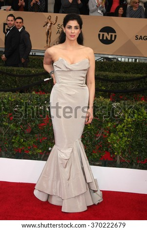 LOS ANGELES - JAN 30:  Sarah Silverman at the 22nd Screen Actors Guild Awards at the Shrine Auditorium on January 30, 2016 in Los Angeles, CA - stock photo