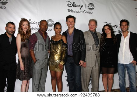 LOS ANGELES - JAN 10:  Scandal Cast arrives at the ABC TCA Party Winter 2012 at Langham Huntington Hotel on January 10, 2012 in Pasa