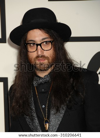 LOS ANGELES - JAN 26:  Sean Lennon  arrives at the 56th Annual Grammy Awards Arrivals  on January 26, 2014 in Los Angeles, CA                 - stock photo