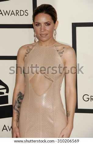LOS ANGELES - JAN 26:  Skylar Grey arrives at the 56th Annual Grammy Awards Arrivals  on January 26, 2014 in Los Angeles, CA                 - stock photo