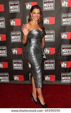 "LOS ANGELES - JAN 14:  Sofia Vergara arrives to 16th Annual ""Critics"" Choice Movie Awards  on January 14, 2011 in Los Angeles, CA - stock photo"