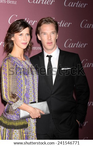 LOS ANGELES - JAN 3:  Sophie Hunter, Benedict Cumberbatch at the Palm Springs Film Festival Gala at a Convention Center on January 3, 2014 in Palm Springs, CA - stock photo