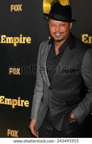 "LOS ANGELES - JAN 6:  Terrence Howard at the FOX TV ""Empire"" Premiere Event at a ArcLight Cinerama Dome Theater on January 6, 2014 in Los Angeles, CA - stock photo"