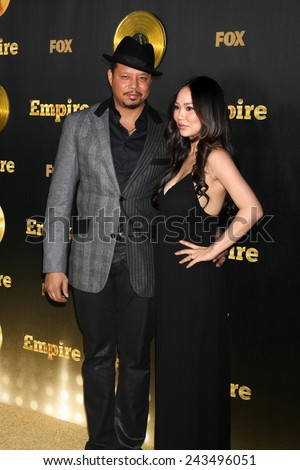 "LOS ANGELES - JAN 6:  Terrence Howard, Miranda Howard at the FOX TV ""Empire"" Premiere Event at a ArcLight Cinerama Dome Theater on January 6, 2014 in Los Angeles, CA - stock photo"