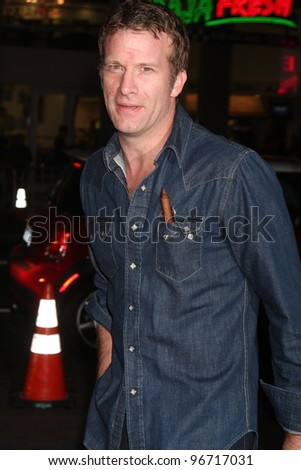 "LOS ANGELES - JAN 25:  Thomas Jane arrives at  the ""Luck"" Los Angeles Premiere of HBO Series at Graumans Chinese Theater on January 25, 2012 in Los Angeles, CA"