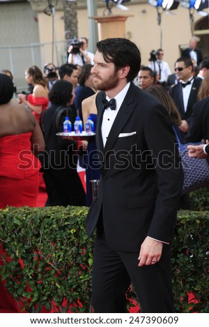 LOS ANGELES - JAN 25:  Timothy Simons at the 2015 Screen Actor Guild Awards at the Shrine Auditorium on January 25, 2015 in Los Angeles, CA - stock photo