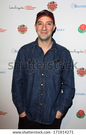 LOS ANGELES - JAN 5:  Tony Hale at the BCS National Championship Party at Pasadena Convention Center on January 5, 2014 in Pasadena, CA - stock photo