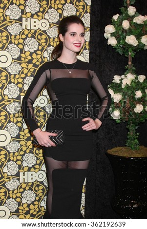 LOS ANGELES - JAN 10:  Vanessa Marano at the HBO Golden Globes After Party 2016 at the Beverly Hilton on January 10, 2016 in Beverly Hills, CA - stock photo