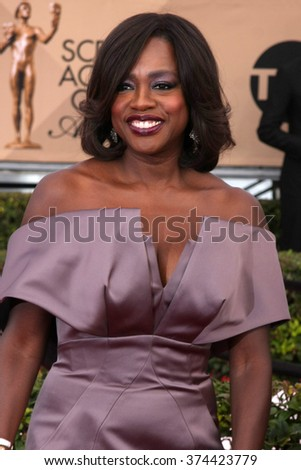 LOS ANGELES - JAN 30:  Viola Davis at the 22nd Screen Actors Guild Awards at the Shrine Auditorium on January 30, 2016 in Los Angeles, CA - stock photo