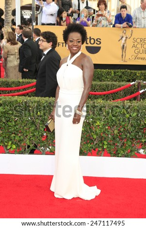 LOS ANGELES - JAN 25:  Viola Davis at the 2015 Screen Actor Guild Awards at the Shrine Auditorium on January 25, 2015 in Los Angeles, CA - stock photo