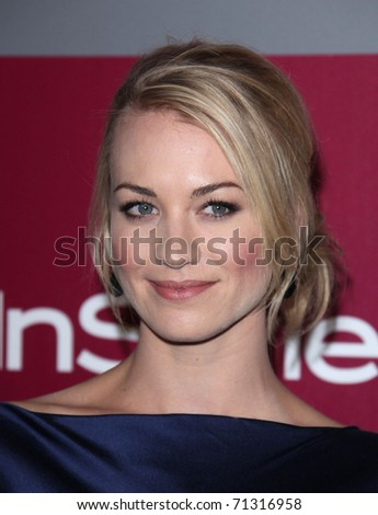 LOS ANGELES - JAN 16:  Yvonne Strahovski arrives to the 12th Annual WB-In Style Golden Globe After Party  on January 16, 2011 in Beverly Hills CA