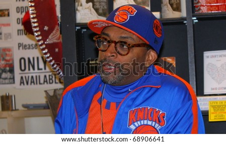 LOS ANGELES - JANUARY 9: Director Spike Lee at  book signing at Book Soup January 9, 2011 in Los Angeles, CA. - stock photo