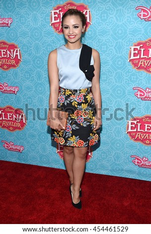 """LOS ANGELES - JUL 16:  Aimee Carrero arrives to the Disney Channel's """"Elena of Avalor"""" Los Angeles Premiere on July 16, 2016 in Beverly Hills, CA                 - stock photo"""