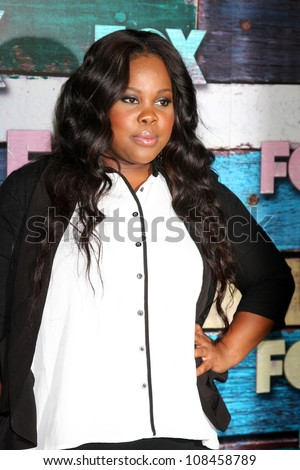 LOS ANGELES - JUL 23:  Amber Riley arrives at the FOX TCA Summer 2012 Party at Soho House on July 23, 2012 in West Hollywood, CA