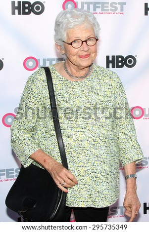"""LOS ANGELES - JUL 11:  Betty DeGeneres at the """"Tab Hunter Confidential"""" at Outfest at the Directors Guild of America on July 11, 2015 in Los Angeles, CA - stock photo"""