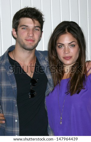 LOS ANGELES - JUL 27:  Bryan Craig, Kelly Thiebaud arrives at the 2013 General Hospital Fan Club Luncheon  at the Sportsman's Lodge on July 27, 2013 in Studio City, CA - stock photo