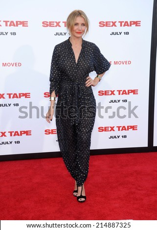 """LOS ANGELES - JUL 10:  Cameron Diaz arrives to the """"Sex Tape"""" World Premiere  on July 10, 2014 in Westwood, CA.                 - stock photo"""