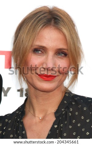 """LOS ANGELES - JUL 10:  Cameron Diaz at the """"Sex Tape"""" Premiere at the Village Theater on July 10, 2014 in Westwood, CA - stock photo"""