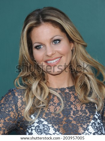 "LOS ANGELES - JUL 08:  Candace Cameron Bure arrives to the Hallmark's ""Northpole Christmas Celebration""  on July 08, 2014 in Beverly Hills, CA"