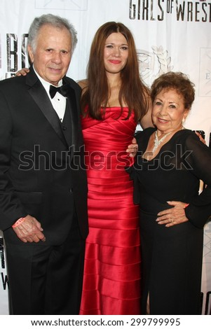 "LOS ANGELES - JUL 23:  Carolin Von Petzholdt, parents at the ""The Boom Boom Girls of Wrestling"" Premiere at the Downtown Independent Theater on July 23, 2015 in Los Angeles, CA"