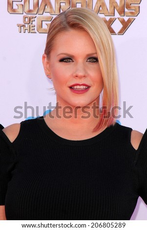"LOS ANGELES - JUL 21:  Carrie Keagan at the ""Guardians Of The Galaxy"" Premiere at the Dolby Theater on July 21, 2014 in Los Angeles, CA"