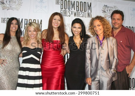 "LOS ANGELES - JUL 23:  Cast and Producers at the ""The Boom Boom Girls of Wrestling"" Premiere at the Downtown Independent Theater on July 23, 2015 in Los Angeles, CA - stock photo"