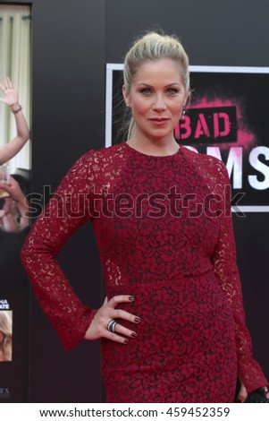 """LOS ANGELES - JUL 26:  Christina Applegate at the """"Bad Moms"""" Los Angeles Premiere at the Village Theater on July 26, 2016 in Westwood, CA - stock photo"""