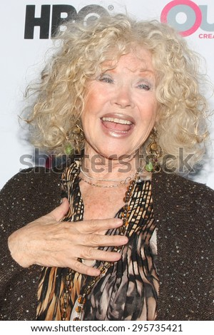 """LOS ANGELES - JUL 11:  Connie Stevens at the """"Tab Hunter Confidential"""" at Outfest at the Directors Guild of America on July 11, 2015 in Los Angeles, CA - stock photo"""