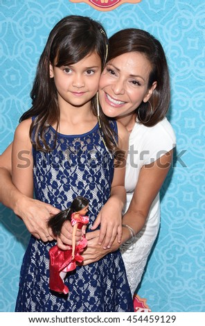 """LOS ANGELES - JUL 16:  Constance Marie & Luna Marie Katich arrives to the Disney Channel's """"Elena of Avalor"""" Los Angeles Premiere on July 16, 2016 in Beverly Hills, CA                 - stock photo"""