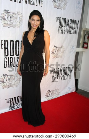 "LOS ANGELES - JUL 23:  Crystal Santos at the ""The Boom Boom Girls of Wrestling"" Premiere at the Downtown Independent Theater on July 23, 2015 in Los Angeles, CA - stock photo"