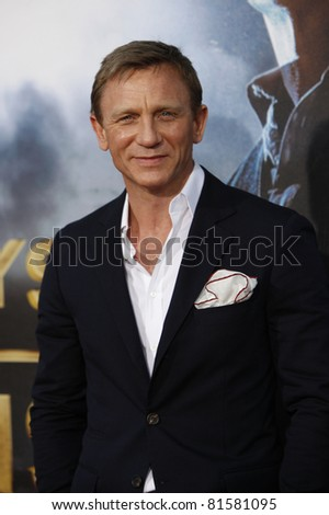 LOS ANGELES - JUL 23: Daniel Craig at the 'Cowboys & Aliens' world premiere at the Civic Theater in San Diego, California on July 23, 2011 - stock photo