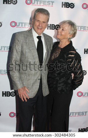 "LOS ANGELES - JUL 11:  Don Murray, Betty Murray at the ""Tab Hunter Confidential"" at Outfest at the Directors Guild of America on July 11, 2015 in Los Angeles, CA - stock photo"