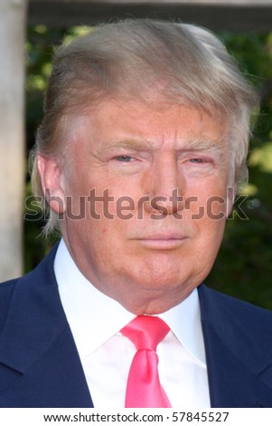 LOS ANGELES - JUL 24:  Donald Trump arrives at  the 12th Annual HollyRod Foundation DesignCare Event at Ron Burkle's Green Acres Estate on July24, 2010 in Beverly Hills, CA ....