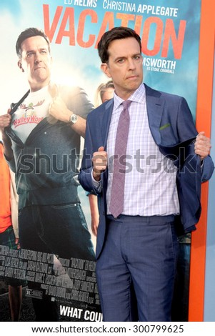 "LOS ANGELES - JUL 27:  Ed Helmes at the ""Vacation"" Premiere at the Village Theater on July 27, 2015 in Westwood, CA - stock photo"