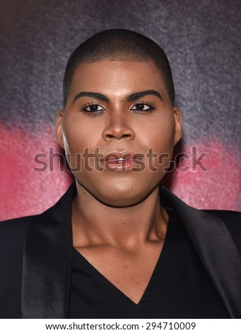 """LOS ANGELES - JUL 07:  EJ Johnson arrives to the """"The Gallows"""" Los Angeles Premiere  on July 07, 2015 in Hollywood, CA                 - stock photo"""