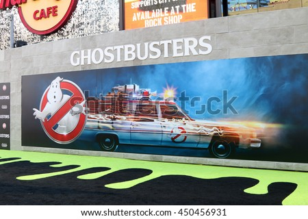 LOS ANGELES - JUL 9:  Ghostbusters Atmosphere at the Ghostbusters Premiere at the TCL Chinese Theater IMAX on July 9, 2016 in Los Angeles, CA - stock photo