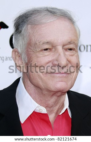 LOS ANGELES - JUL 19: Hugh Hefner at the Much Love Animal Rescue fundraiser 'Bow Wow Wow' at the Playboy Mansion on July 19, 2008 in Los Angeles, California
