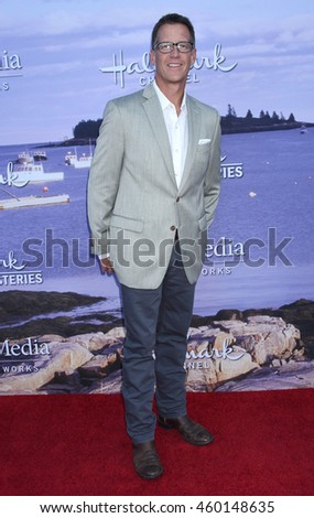 LOS ANGELES - JUL 27:  James Denton arrives to the Hallmark Channel and Hallmark Movies and Mysteries Summer 2016 TCA Press Tour Event  on July 27, 2016 in Beverly Hills, CA                 - stock photo