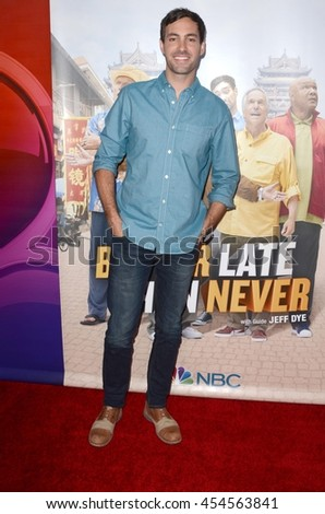 """LOS ANGELES - JUL 18:  Jeff Dye at the """"Better Late Than Never"""" Premiere Press Screening at Universal Studios on July 18, 2016 in Universal City, CA - stock photo"""