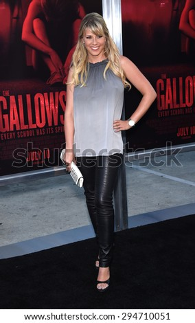 "LOS ANGELES - JUL 07:  Jodie Sweetin arrives to the ""The Gallows"" Los Angeles Premiere  on July 07, 2015 in Hollywood, CA                 - stock photo"